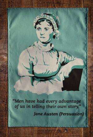 Jane Austen Persuasion tea towel - Paño cocina