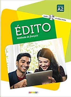 Edito 2 A2 - Livre + CD MP3 + DVD