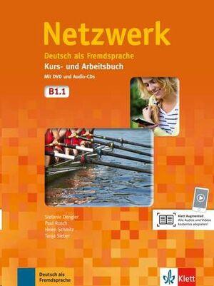 Netzwerk B1.1 Kurs- un Arbeitsbuch + 2 CDs Audio + DVD