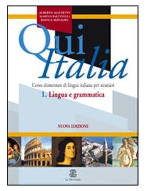 Qui Italia 1 (libro)  Lingua e grammatica
